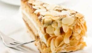 almond- flavored butter cake