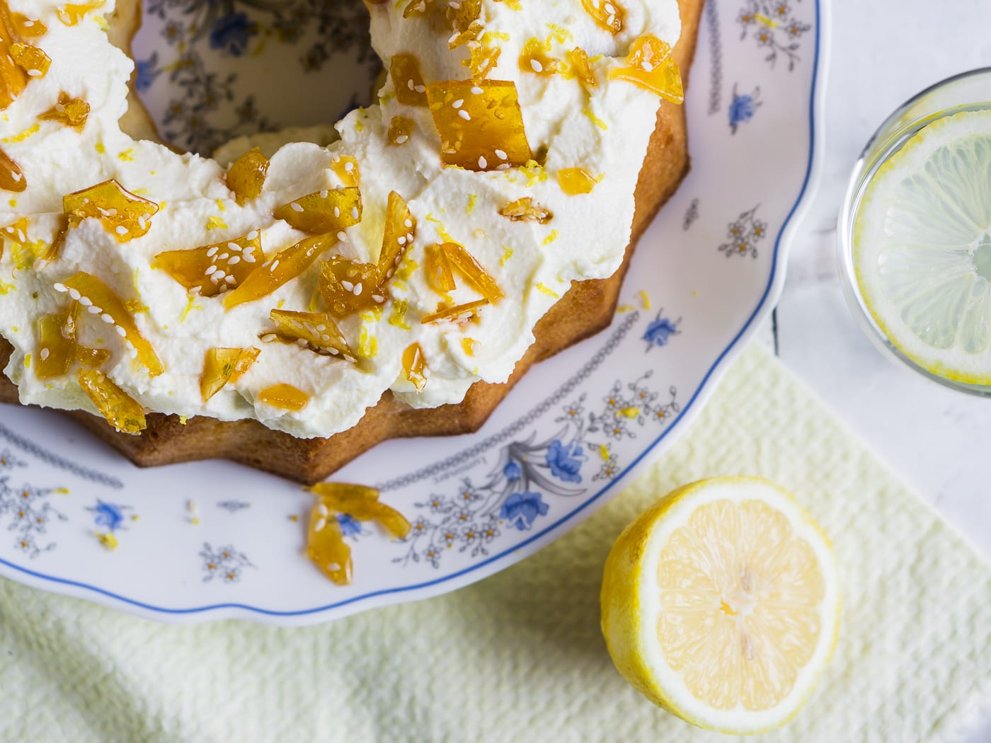 Polish Lemon Coffee Cake Recipe