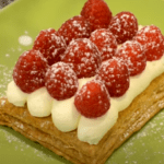 Easter Cake Biscuit Roll with Lemon Cream and Raspberries
